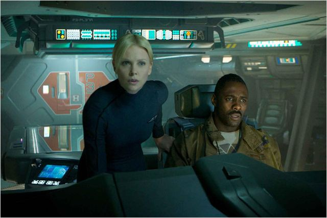 Prometheus : Photo Charlize Theron, Idris Elba, Ridley Scott