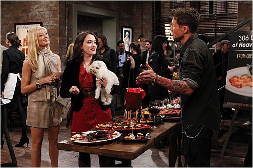 2 Broke Girls : photo Beth Behrs, Chad Michael Collins, Kat Dennings