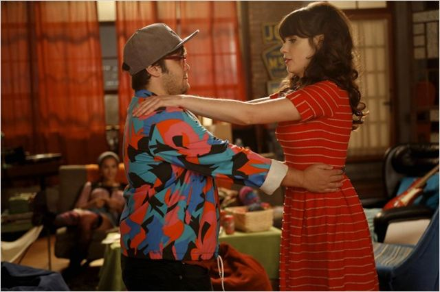 New Girl : photo Charlie Saxton, Zooey Deschanel