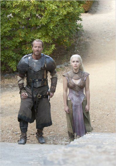 Photo Emilia Clarke, Iain Glen