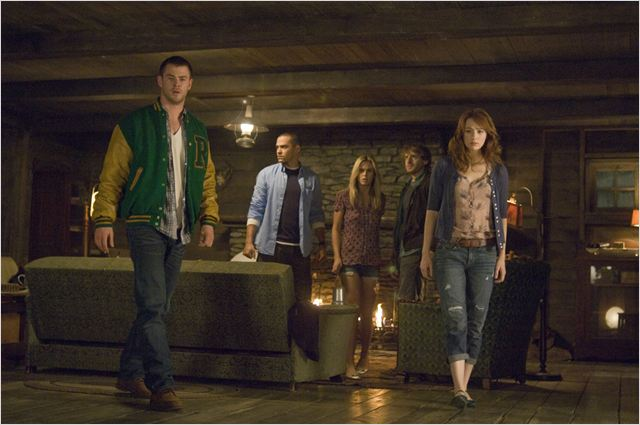 La Cabane dans les bois : Photo Anna Hutchison, Chris Hemsworth, Fran Kranz, Jesse Williams, Kristen Connolly