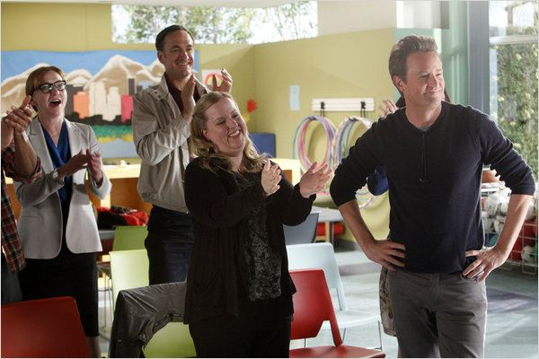Go On : photo Julie White, Matthew Perry, Sarah Baker, Seth Morris