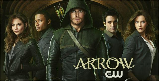 Arrow : photo Colin Donnell, David Ramsey, Katie Cassidy, Stephen Amell, Willa Holland