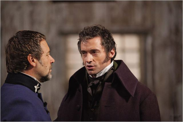 Les Misérables : photo Hugh Jackman, Russell Crowe