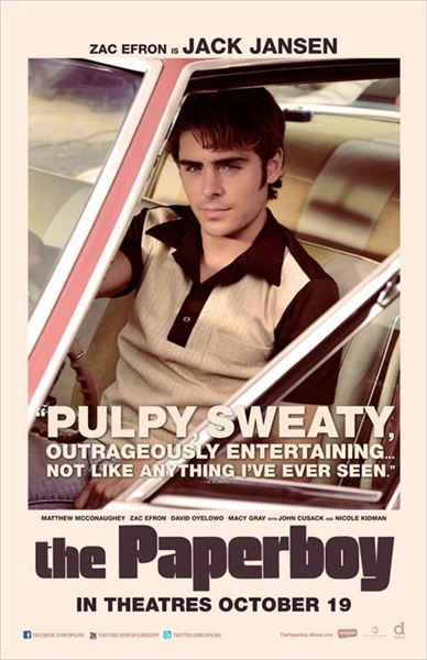 Paperboy : Affiche Zac Efron