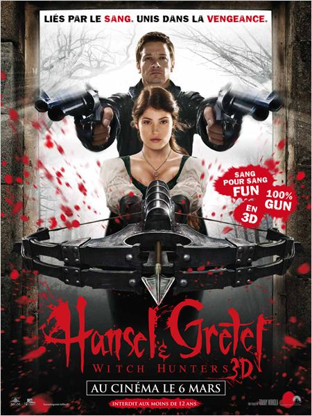telecharger gratuitement Hansel &amp; Gretel Chasseurs de Sorcires Witch Hunters french truefrench DVDRIP BDRIP BRRIP 1cd 2cd ac3 x264 R5 MD download gratuit