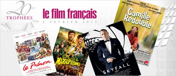 Troph&#233;es du Film Fran&#231;ais 2013 : &quot;Skyfall&quot; et &quot;Camille redouble&quot; prim&#233;s !