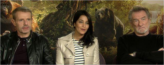 """Rencontre avec Lambert Wilson, Leïla Bekhti et Eddy Mitchell, voix françaises du """"Livre de la Jungle""""..."""